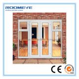 Puertas francesas del marco del impacto del huracán del PVC de Roomeye para la casa