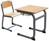 Escritorio y silla fijos de la alta calidad de los muebles de escuela solos