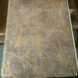 Panneau de mur en bois de PVC de laminage de couleur, panneau de plafond en plastique, Cielo Raso De PVC