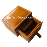 Rectángulo de empaquetado del caso del almacenaje de la nueva del Faux joyería de lujo del cuero