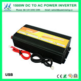 Inversor de alta frecuencia portable de la potencia de la CA de la C.C. 1500W (QW-M1500)