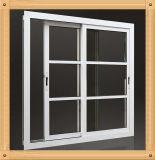 série de tissu pour rideaux en aluminium Windows de 55mm avec le modèle de gril
