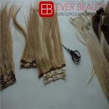 インドの毛を搭載する人間の毛髪の拡張の優れたクリップ