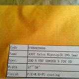 tela de nylon tejida impresa Ripstop 430t para la ropa y la guarnición