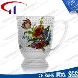 copo de vidro da água da flor de 270ml Decaled (CHM8098)