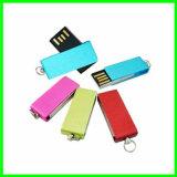 Mini programa piloto del USB de la memoria del eslabón giratorio impermeable del flash