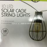 屋外のハングLEDの太陽動力を与えられた球根のケージストリングライト(RS1007)