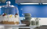 高い光沢のある白いカラー食器棚(ZS-806)