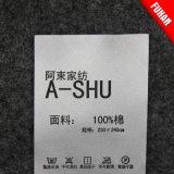 [هنغزهوو] [فوهن] يطبع مصنع مباشرة غسل عناية علامة مميّزة لأنّ لباس