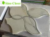 Prix de marbre blanc de tuile de mosaïque de jet d'eau de décoration intérieure