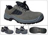 高品質の極度の通気性の牛分割されたスエードの革安全靴