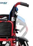 Cadeira de rodas elétrica de dobramento fácil de Powe do frame do Al do Ce com bateria de lítio e Suspenstion