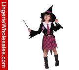 Vestito da partito di Halloween del banco dei bambini della strega di ruolo del gioco della ragazza magica del costume