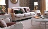 現代白いファブリックソファーの居間のソファー