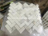 Мозаика камня плитки настила Calacatta белая Polished мраморный для стены