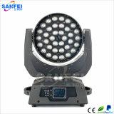 luz principal movente da lavagem do foco do diodo emissor de luz de 36PCS*10W RGBW 4in1