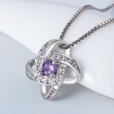 Joyería cristalina de la plata esterlina de la joyería 925 de la plata del collar (NC0141)