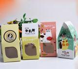Het nieuwe Verpakkende Vakje Van uitstekende kwaliteit van de Chocolade van het Document van de Stijl met Venster, het Vakje van de Gift van het Suikergoed