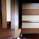 T&G o suelo de bambú tejido hilo carbonizado sistema del tecleo