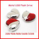 Flash Drive Cristal USB Pendrive USB de la joyería del corazón del disco del USB