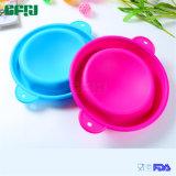 Lavabo de cuvette de silicones de catégorie comestible de Dérapage-Épreuve avec deux traitements