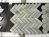 Mosaico de mármol de los azulejos de mármol blancos de las flechas del nuevo producto para la pared del cuarto de baño