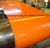 Bobine de Steel/PPGI/Gi/Gl et feuille en acier en aluminium de toiture enduites par couleur