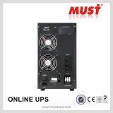 Gleichstrom 2kVA zu Wechselstrom-reine Sinus-Welle LCD-Bildschirmanzeige Online-UPS