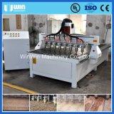 切り分ける8つの軸線の回転式彫版中心Ww1530-8木製CNC機械を処理する
