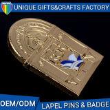 Distintivi poco costosi della lega del metallo del 2D ricordo di disegno 3D di stile di modo