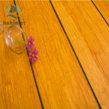 Suelo de bambú tejido hilo carbonizado uso de interior azul gris del borde