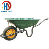 Wheelbarrow da bandeja do metal de 2 Wheeles