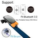 3.0 Bluetoothの新しいクランプおよびミラーが付いている拡張可能な小型ステンレス鋼Selfie
