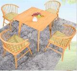 800*800mm festes Holz-Quadrat-Kaffee-Tisch und Stuhl