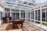 دار ليّن تصميم زجاجيّة ألومنيوم [سون رووم], حديقة منزل مع مزدوجة/مثلث كلّيّا يليّن [سونرووم] زجاجيّة