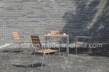 De openlucht de 4-zetels van het Restaurant van het Meubilair Reeks van de Lijst van het Roestvrij staal