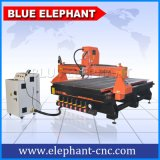 Router do CNC do cilindro do Woodworking Ele-1530, router de madeira do CNC da gravura da porta, router de madeira quente do CNC do controle 3D do punho da venda DSP