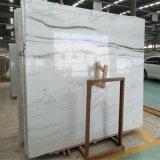 Telhas de mármore brancas da parede do assoalho da panda Polished interna moderna dos projetos