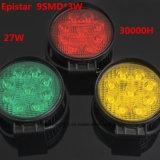 luz del trabajo de 9LED LED para el carro alrededor de 3 colores