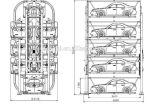 Sistema de circulação vertical do estacionamento do carro com Ce