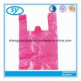 Sacs à provisions en plastique clairs transparents de T-shirt d'épreuve de l'eau