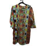 Madame occasionnelle Long Sleeve Chiffon Dress de mode