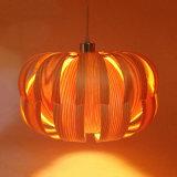 Heiße Verkaufs-hölzerne Haut-künstlerische hängende Lampe