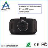 H. 264 appareil-photo manuel HD DVR, appareil-photo de véhicule d'Ambarella A7 de véhicule de lentille de 170 degrés