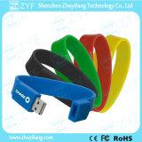 Unidad USB multicolor pulsera de la pulsera con el logotipo personalizado (ZYF1256)
