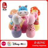 5개의 사랑스러운 견면 벨벳 동물성 장난감은 유아를 위한 볼링 장난감을 구성한다