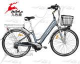 bicyclette électrique de ville du bâti 250W de l'alliage 700c d'aluminium avec du ce (JSL036H-1)