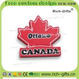 Выдвиженческие подарки подгонянные с конструкцией Канадой магнитов холодильника PVC 3D (RC-CA)