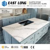 Pierre de quartz artificielle pour dalle / comptoir / Construction / Matériau de construction avec surface solide / SGS / Ce (Calacatta / pierre blanche)