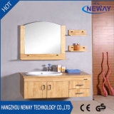 Оптовой установленный стеной шкаф ванной комнаты твердой древесины зеркала